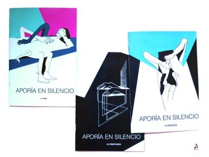"""Fanzines """"Aporía en silencio"""" #1 PURA #2 PROFUNDA #3 ERÓTICA 18X14cm 2015"""