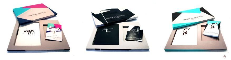 Aporia en silencio Edición 1# PURA 2# PROFUNDA 3# EROTICA Edición caja-libro artista con los 30 dibujos originales y el fanzine editado